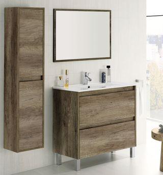 Pack muebles baño completo mueble espejo lavamanos