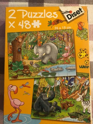 2 puzzles de 48 piezas cada uno