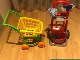 Set de limpieza y carro compra