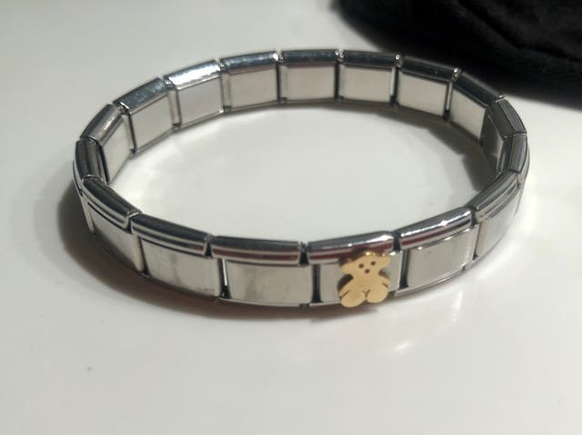 Pulsera TOUS BEAR acero y oro