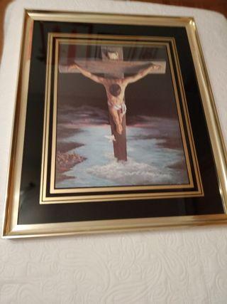 Cuadro replica Cristo de Dalí