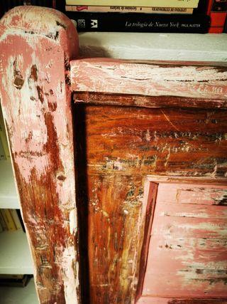 cabecero rústico madera