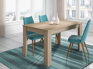 Mesa de comedor o salon extensible color roble can