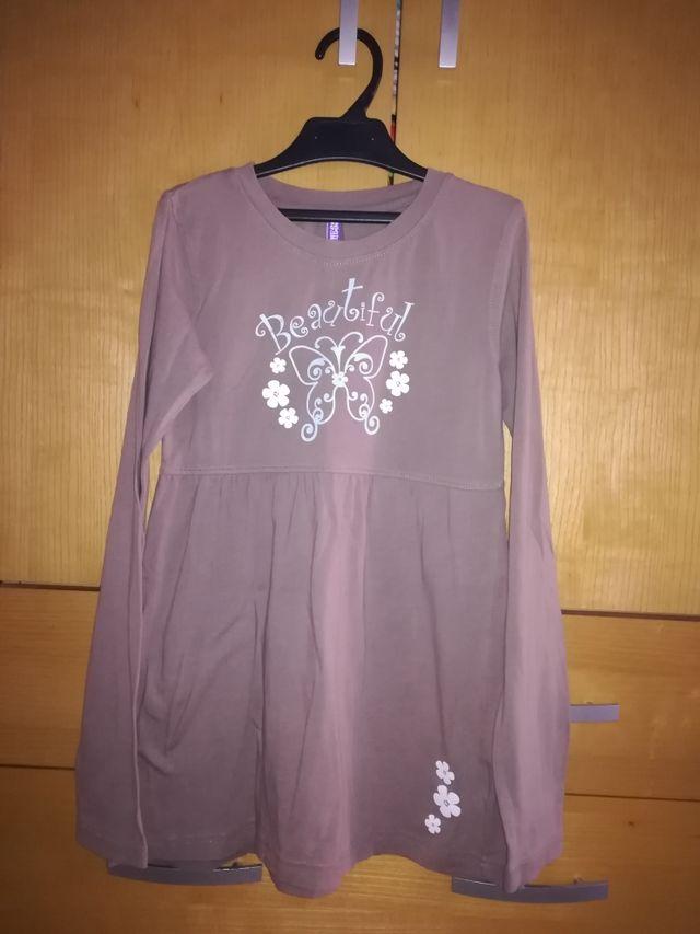 camiseta larga niña, talla 12-14