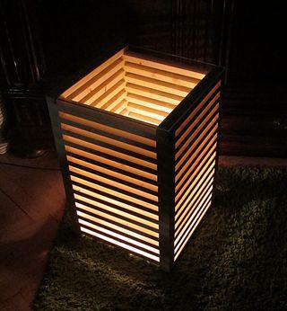 Lámpara mesa decorativa madera