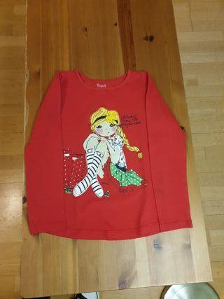 Lote de camisetas y forro polar niña 6-7 años