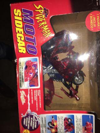 Juguete moto-spiderman