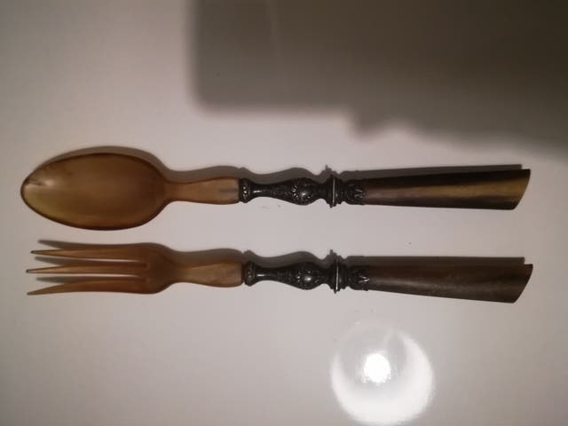 Antique salad cutlery