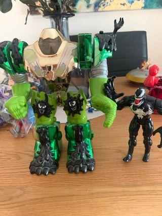 Juguetes spiderman y Venom
