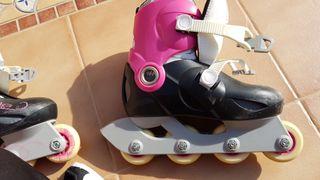 patines en linea usado dos veces, ajustables