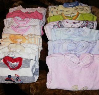 14 pijamas de 0 a 6 meses 18€