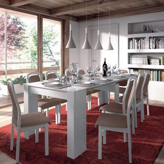 Mesa Extensible + 8 sillas