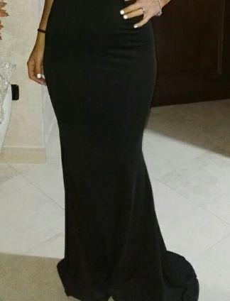 Vestido fiesta. Negro talla 38/40.