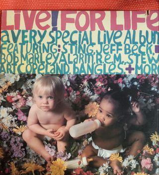 VINILO LIVE FOR LIFE STING R.E.M STEWART