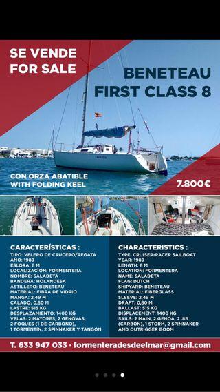 Velero frist class 8