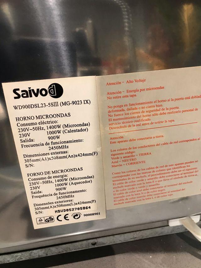 Microondas Saivod con grill WD900DSL23