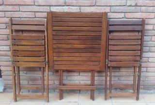 Mesa y sillas plegables exterior ikea