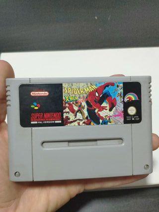 juego Spiderman de consola super Nintendo