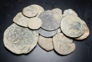 Lote de monedas para limpiar