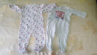 Dos pijamas invierno 9 meses.