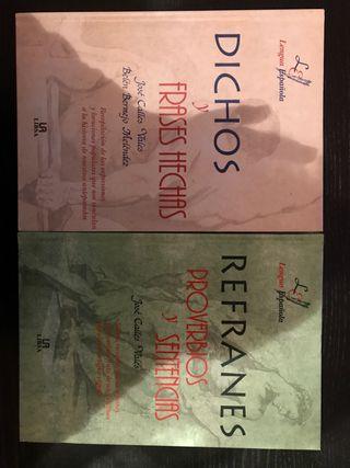2 libros. Refranes y dichos