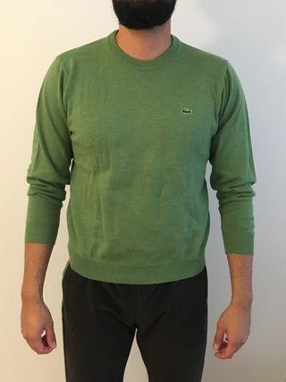 Jersey verde hombre lacoste
