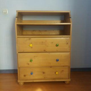 Mueble cómoda con cambiador de bebé