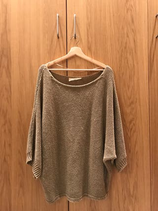 Jersey marrón oversize