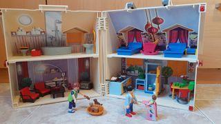 #playmobil#casa#muñecas#maletin#