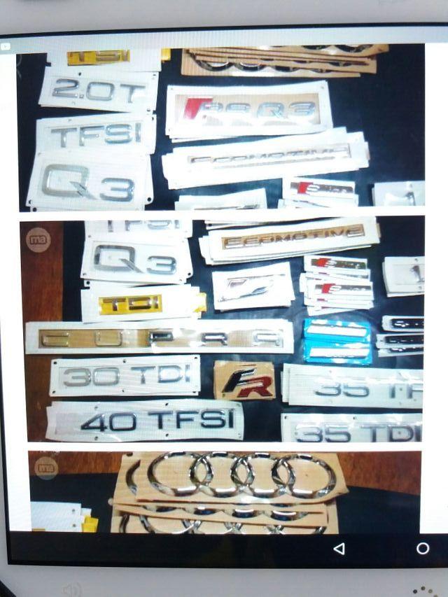 anagramas/emblemas seat,audi,w,etc.