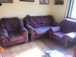 Sofa3 plazas y dos sillones
