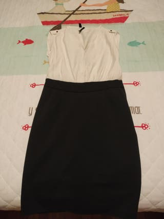 Vestido falda tubo sin mangas