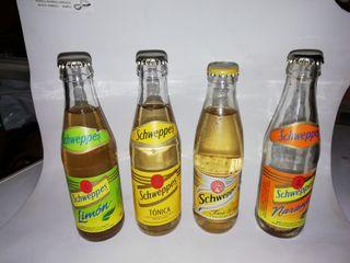 botellas schweppes antiguas