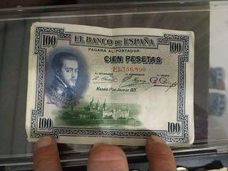 billete 100 pesetas 1925 errores unico