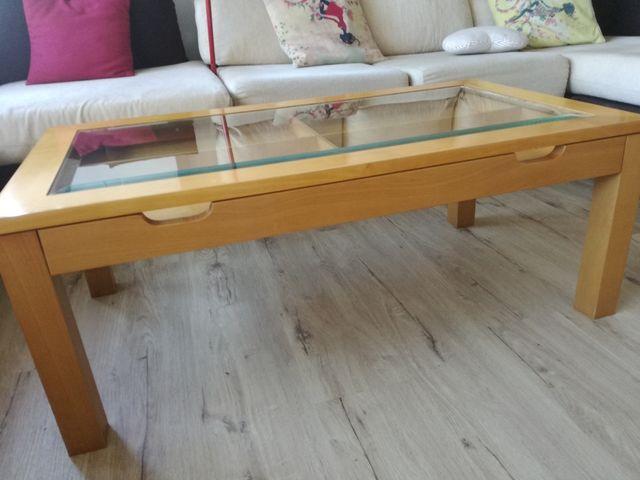 Mesa centro abatible madera haya