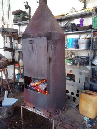 chimenea casera hierro para campo