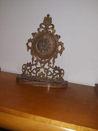 reloj antiguo de bronce para decoracion , hago.env