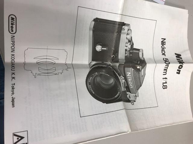 Objetivo Nikon AI 50mm 1.8