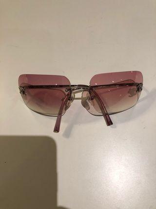 Gafas metálicas cristal rosa chanel