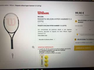 Raqueta wilson hyper hammer carbon