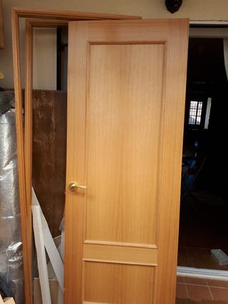 Puerta interior de color roble 72 cm x 203 cm