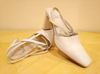 Zapatos tacón (tipo novia) Muxart talla 39