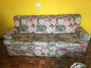 Sofá estampado de tapicería