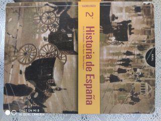 Dos libros Historia de España 2° Bachillerato