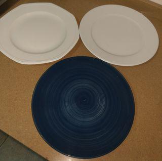 lote 3 platos muy grandes