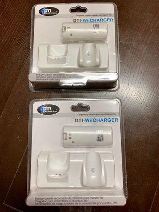Kit mandos de deporte y 2 cargadores para la Wii