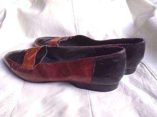 90's vintage mocasin 3 colours leather