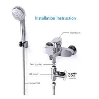 Adaptador medidor de temperatura grifo bañera