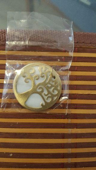 árbol de la vida chapado en oro fabricado de plata