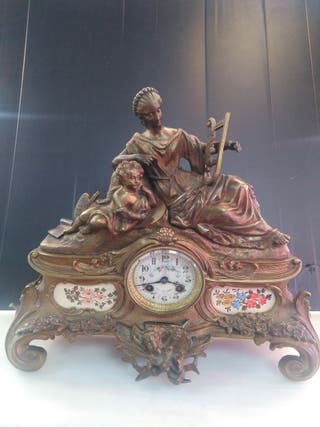 antiguo reloj de bronce creo francés siglo XIX